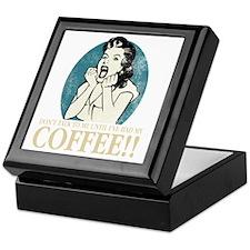 Coffee_Woman-DrkBkgr Keepsake Box