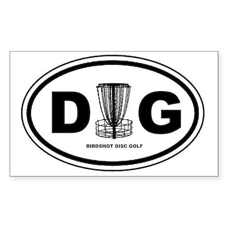 DG Oval Sticker (Rectangle)