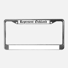 Represent Oakland License Plate Frame
