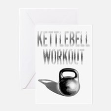 Kettlebell_Workout_dark copy Greeting Card