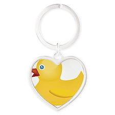 Kozzi-illustration-of-yellow-duck-5 Heart Keychain