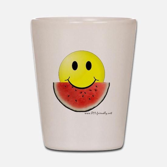 smileywatermelon811friendly big.gif Shot Glass