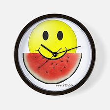 smileywatermelon811friendly big.gif Wall Clock