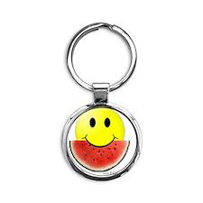 smileywatermelon811friendly big.gif Round Keychain