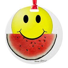 smileywatermelon811friendly big.gif Round Ornament