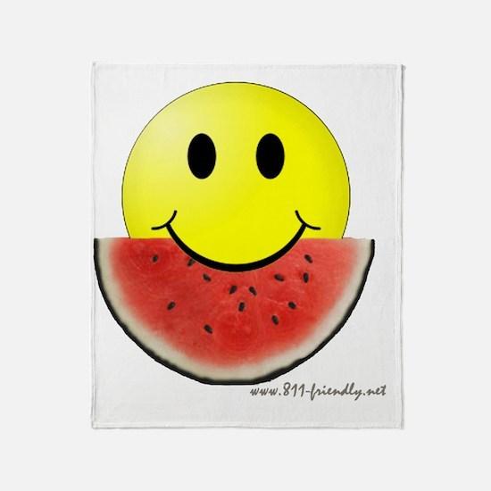 smileywatermelon811friendly big.gif Throw Blanket
