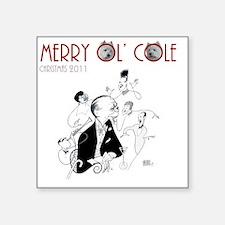"Cole Porter CD Cover Hirsch Square Sticker 3"" x 3"""