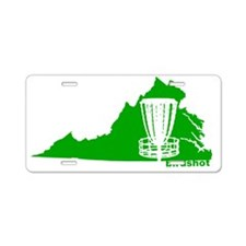 Virginia Disc Golf Basket Aluminum License Plate