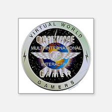 "INTERACTIVE GAMERS Square Sticker 3"" x 3"""