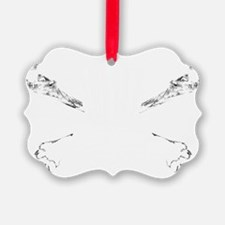 Disc Catcher  Crossbones WHITE Ornament