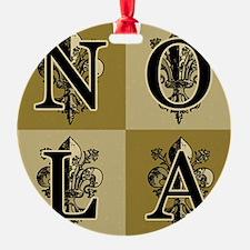 AntiqFleurSqBBcap Ornament