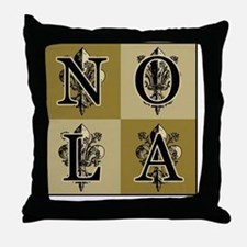 AntiqFleurNG4sqCtr Throw Pillow