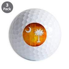 South Carolina Palmetto State Flag Golf Ball