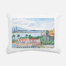 Old San Juan, view towar Rectangular Canvas Pillow