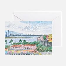 Old San Juan, view toward harbor ent Greeting Card