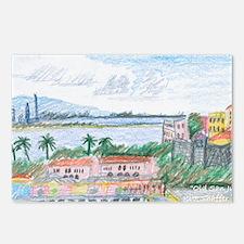 Old San Juan, view toward Postcards (Package of 8)
