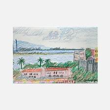 Old San Juan, view toward harbor  Rectangle Magnet