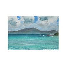 Roadtown Harbor, Tortola #1f Rectangle Magnet