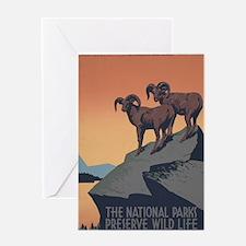 national_parks_preserve_wildlife Greeting Card