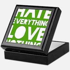 hatelove_green Keepsake Box