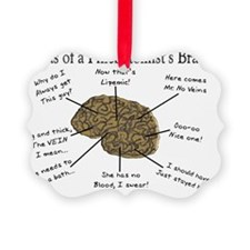 atlas of a Phlebotomists brain Ornament