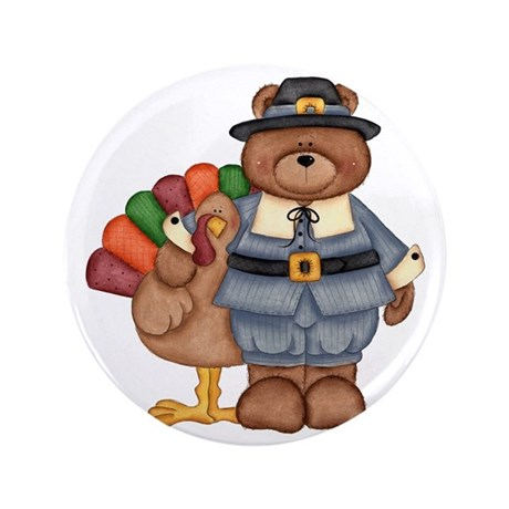 "Thanksgiving 3.5"" Button"