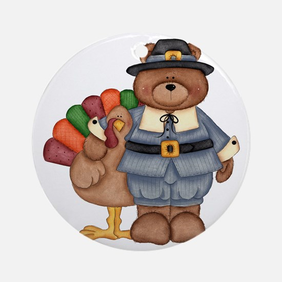 Thanksgiving Round Ornament