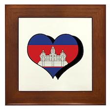 I Love Cambodia Framed Tile