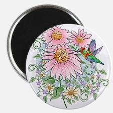 Hummingbird Floral Magnet