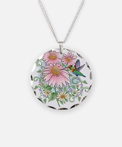 Hummingbird Floral Necklace