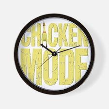 Chicken Mode (Yellow) Wall Clock
