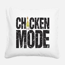 Chicken Mode Square Canvas Pillow
