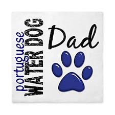 D Portuguese Water Dog Dad 2 Queen Duvet