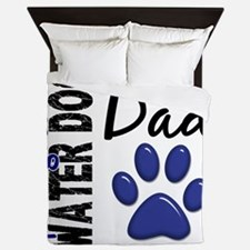 D Portuguese Water Dog Dad 2 Queen Duvet