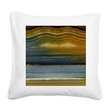 Agate-Mineral-iPad 2 Square Canvas Pillow