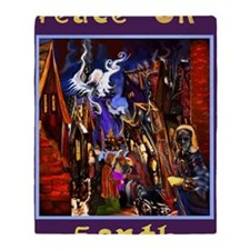 Peace on Earth Large Poster Throw Blanket