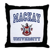 MACKAY University Throw Pillow