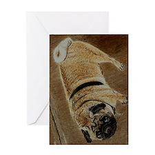 pug_dog_framed_print Greeting Card