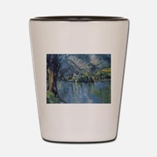 Annecy Lake - Paul Cezanne - c1896 Shot Glass