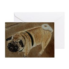 pug_dog_framed_print1 Greeting Card