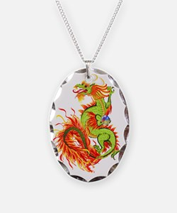 Flaming  Dragon Trans Necklace