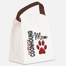 D Redbone Coonhound Mom 2 Canvas Lunch Bag