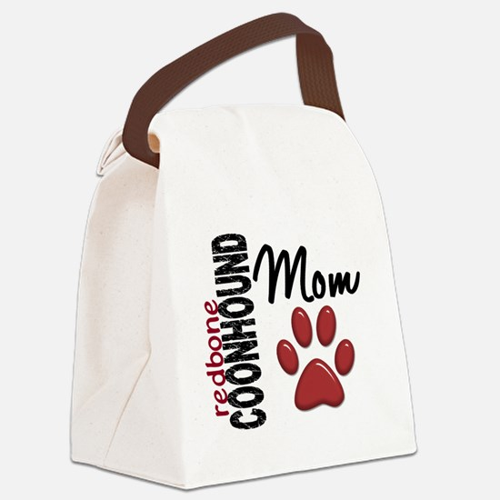 D Redbone Coonhound Mom 2 Canvas Lunch Bag