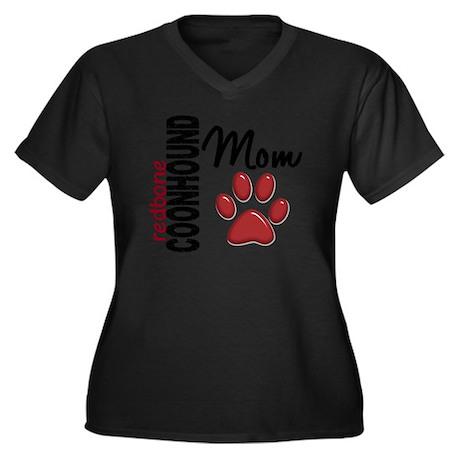 D Redbone Co Women's Plus Size Dark V-Neck T-Shirt