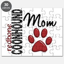 D Redbone Coonhound Mom 2 Puzzle