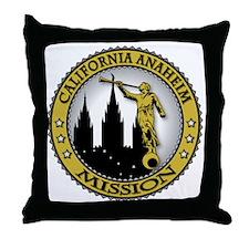 California Anaheim LDS Mission Angel  Throw Pillow