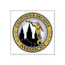 "California Arcadia LDS Miss Square Sticker 3"" x 3"""