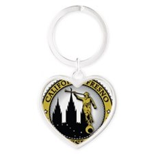 California Fresno LDS Mission Angel Heart Keychain