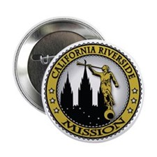 "California Riverside LDS Mission Ange 2.25"" Button"