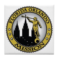 Florida Orlando LDS Mission Angel Mor Tile Coaster